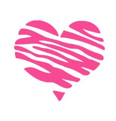 Items similar to Zebra Heart Vinyl Car Decal Wall Art Sticker for Phone, Laptop, Computer, Vehicle on Etsy Stencils, Silhouette Projects, Silhouette Design, Pink Zebra, Vinyl Projects, Vinyl Designs, Car Decals, Zebra Print, Clip Art