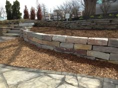 Chilton hand stack retaining wall