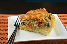 Chicken Rice Crust Pie