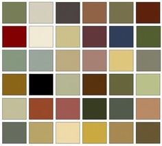 Colors that you should use in an Arts and Crafts home (generally, they are taken from nature)