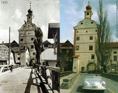 Stadtturm in Gmuend Kaernten.Von 1944-1947 befanden sich die Porsche-Werke in Gmuend Quelle:seinerzeitung