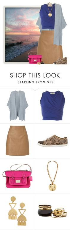 """""""leather skirt & crop top"""" by niteowlgirl ❤ liked on Polyvore featuring Repeat, Romeo Gigli, Lipsy, Lanvin, CABARET, Kenneth Jay Lane and Madewell"""