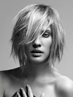 how to style hair with bangs and layers 1000 ideas about razored bob on hairstyles 9147