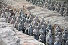 Terrakotta Army - The Terracota Warrior - More reasons to visit #China here http://www.earthsattractions.com/top-reasons-to-visit-china/ #travel