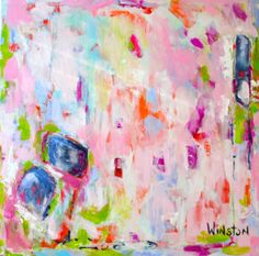 """""""Taste of the City"""" by Winston Wiant. 30x30 inches. Acrylic on gallery wrapped canvas. SOLD"""
