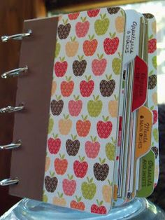 Make your own cookbook scrapbook...great way to display all of those great pinterest recipes we find :)