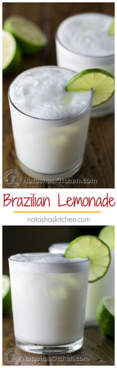 Have you tried Brazilian Lemonade? It's refreshing and smooth. You'll be surprised by the list of ingredients in this Brazilian Limeade! | natashaskitchen.com #sponsored by @jcpenney