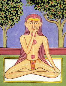Yogi practising Rajasthan, 1858 - Gouache on paper