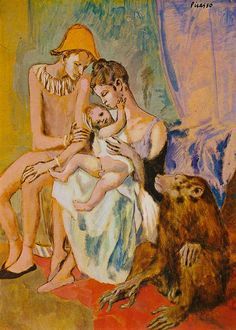 Pablo Picasso | Harlequin's Family With an Ape, 1905