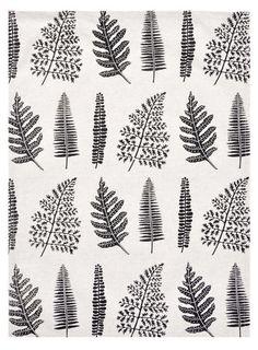 Fern Print Tea Towel