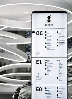 Gerber Orientierungssystem, Stuttgart. Ein Projekt von Ippolito Fleitz Group – Identity Architects.