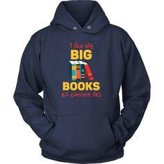 I like big books & I cannot lie Book Reading T Shirt - District Unisex Shirt / Black / S | Unique tees, hoodies, tank tops  - 1