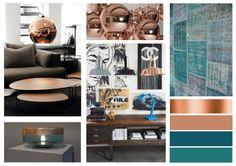 Teal en koper: helemaal hip in 2014........voor meer inspiratie, interieurstyling, verkoopstyling en woningfotografie www.stylingentrends.nl of www.facebook.com/stylingentrends