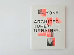 EDITIONS 205, ARCHITECTURE URBAINE: #typography