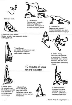 10 minutes of yoga for 3rd trimester