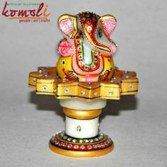 Hand Painted Marble Revolving Ganesha A Unique Wedding Favor For Any Indian