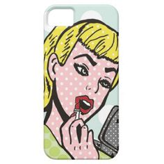 Retro Comic Book Cutie iPhone 5/5S Case--This whimsical pop art iPhone case is sure to bring a smile to your lips. #iphone #Cases #Electronics #Comics #PopArt #Makeup #Teenagers #Hipster #Retro #Zazzle