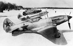 World war 2, soviet air force mikoyan-gurevich mig-3 (i-18) fighters in winter camouflage on a snow covered airfield on the soviet/german front, defense of moscow, 1942. Pin by Paolo Marzioli