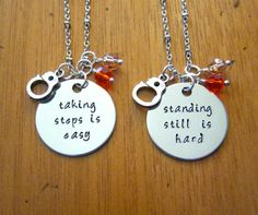 Orange Is The New Black Inspired Friendship Necklaces. OITNB. Set of 2. Silver colored, Swarovski crystals. Handcuffs.