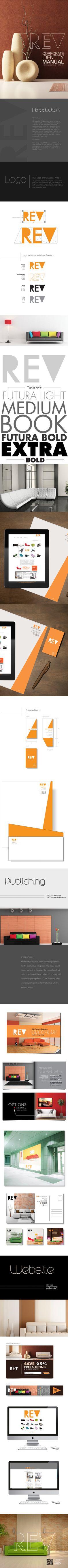REV Furniture Corporate Identity on Behance