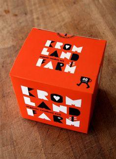 Typographic tea packaging