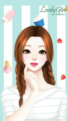 Discover and share the most beautiful images from around the world Cartoon Girl Images, Cute Cartoon Girl, Anime Girl Cute, Anime Art Girl, Cartoon Art, Korean Illustration, Illustration Girl, Cute Girl Drawing, Cute Drawings