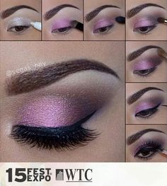 Beautiful eye make up.especially for brown eyes,i Beautiful eye make up.especially for brown eyes,i think. Beautiful eye make up.especially for brown eyes,i think. Eye Makeup Diy, Smokey Eye Makeup Look, Purple Eye Makeup, Makeup Hacks, Makeup Tips, Makeup Ideas, Purple Lipstick, Makeup Art, Purple Eyeshadow