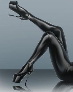 kadın bacağının cinsel obje haline getirilmesi