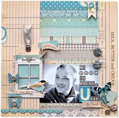 #Papercraft #Scrapbook #Layout.  Home is Where You are...sweet LO