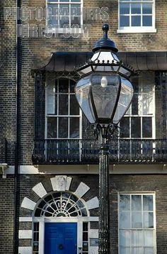 old gas lamp in Bedford Square, London, UK
