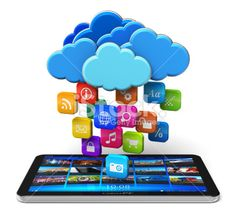 Cloud computing and mobility concept Royalty Free Stock Photo