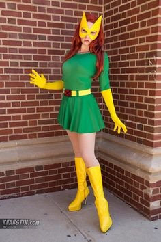 70s Jean Grey Marvel girl (when comic book women come to life)