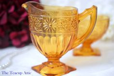 Hey, I found this really awesome Etsy listing at https://www.etsy.com/listing/287874881/indiana-vintage-amber-depression-glass