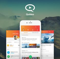 Quideo mobile app design on Behance