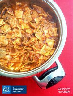 Cocinax2. Las recetas de Laurita.: Gazpacho manchego Spanish Cuisine, Spanish Food, Gazpacho Manchego, Macaroni And Cheese, Chili, Recipies, Soup, Chicken, Meat