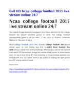 Download document Full HD Ncaa college football 2015 live stream online 24.pdf at 2shared