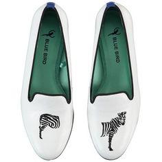 BLUE BIRD Miss Zebra Leather Loafers