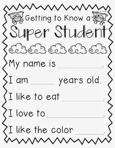 Do any of you kinder teachers do person of the day& student? Well in MY class, it& SUPER student. let me count. English Worksheets For Kindergarten, Phonics Worksheets, Kindergarten Reading, Preschool Learning, Kindergarten Classroom, Teaching, Printable Preschool Worksheets, Student Of The Month, English Lessons For Kids