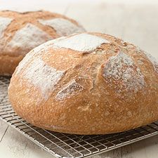Made this thirty or so times and still love it.  No-Knead crusty white bread.  Convenient, forgiving, can add wheat flour and honey.  I  bake mine with the Le Creuset method
