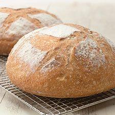 No-Knead Crusty White Bread Recipe
