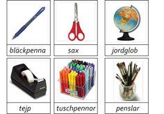 montessorimaterial - Learn Swedish, Swedish Language, Blogg, Back To School, School Stuff, Speech Therapy, Games For Kids, Montessori, Vocabulary