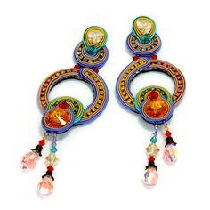 Dori Csengeri | AIBIJOUX Soutache Necklace, Tassel Earrings, Boho Jewelry, Jewlery, Dory, Shibori, Beaded Embroidery, Beading, Craft
