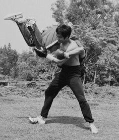 Bruce Lee with Ted Wong
