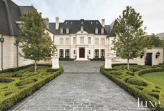 A French, Neoclassical-style residence in Dallas.See more at www.luxesource.com.
