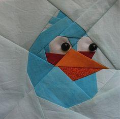 My blue angry bird pattern