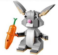Kids enjoy having fun in the spirit of Easter, so this Easter Bunny Lego is perfect for the purpose! The Lego set consists of 106 pieces, the cute bunny has movable. Easter Ideas, Lego Gifts, Lego Animals, Buy Lego, Shop Lego, Toy Craft, Lego Creations, Easter Baskets, Rabbits