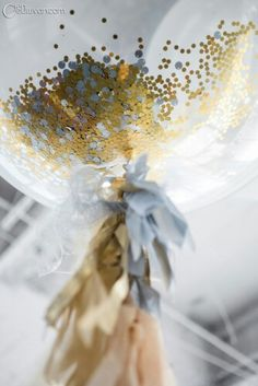 Sequinned glitter filled balloons