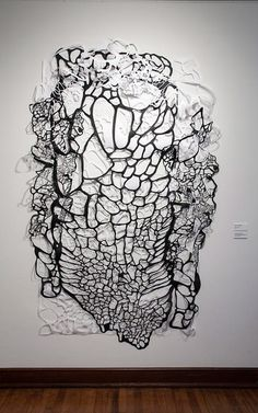 Gianna Paniagua Natural Formations - nspired by the human body and its delicateness, creating paper forms and cut outs that reflect our fragile vasculature and histology.