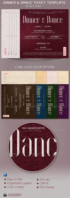 Church Gala Ticket Template By Godserv Designs Graphics Print - ball ticket template