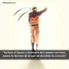 Incluso si fuese a desviarme #ShuOumaGcrow #Naruto_shippuden #Anime #Frases_anime #frases